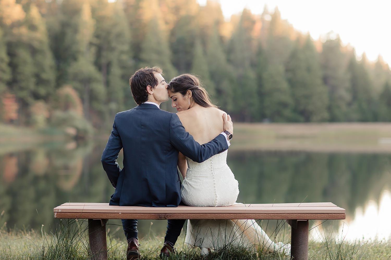 Forest wedding in northen california