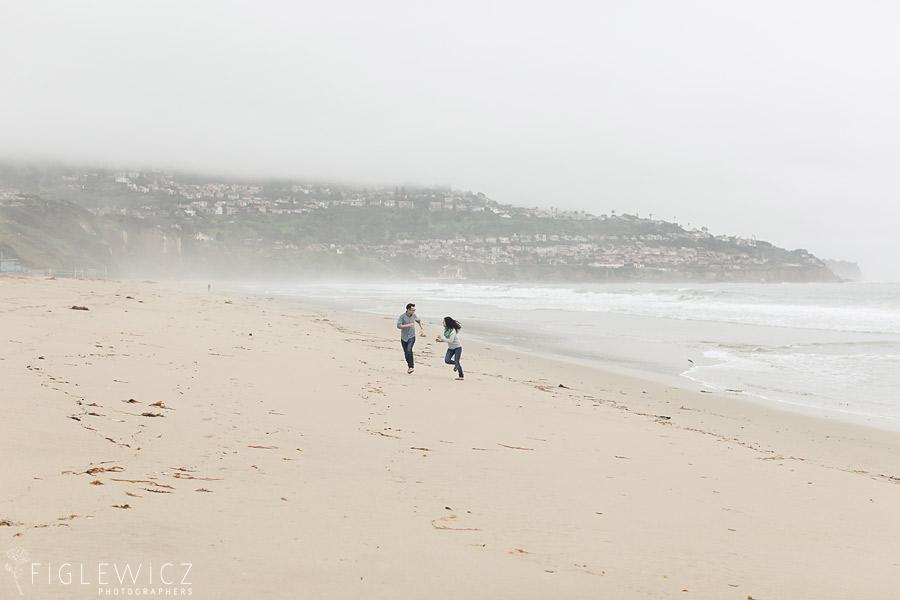 Rainy Day Palos Verdes Engagement