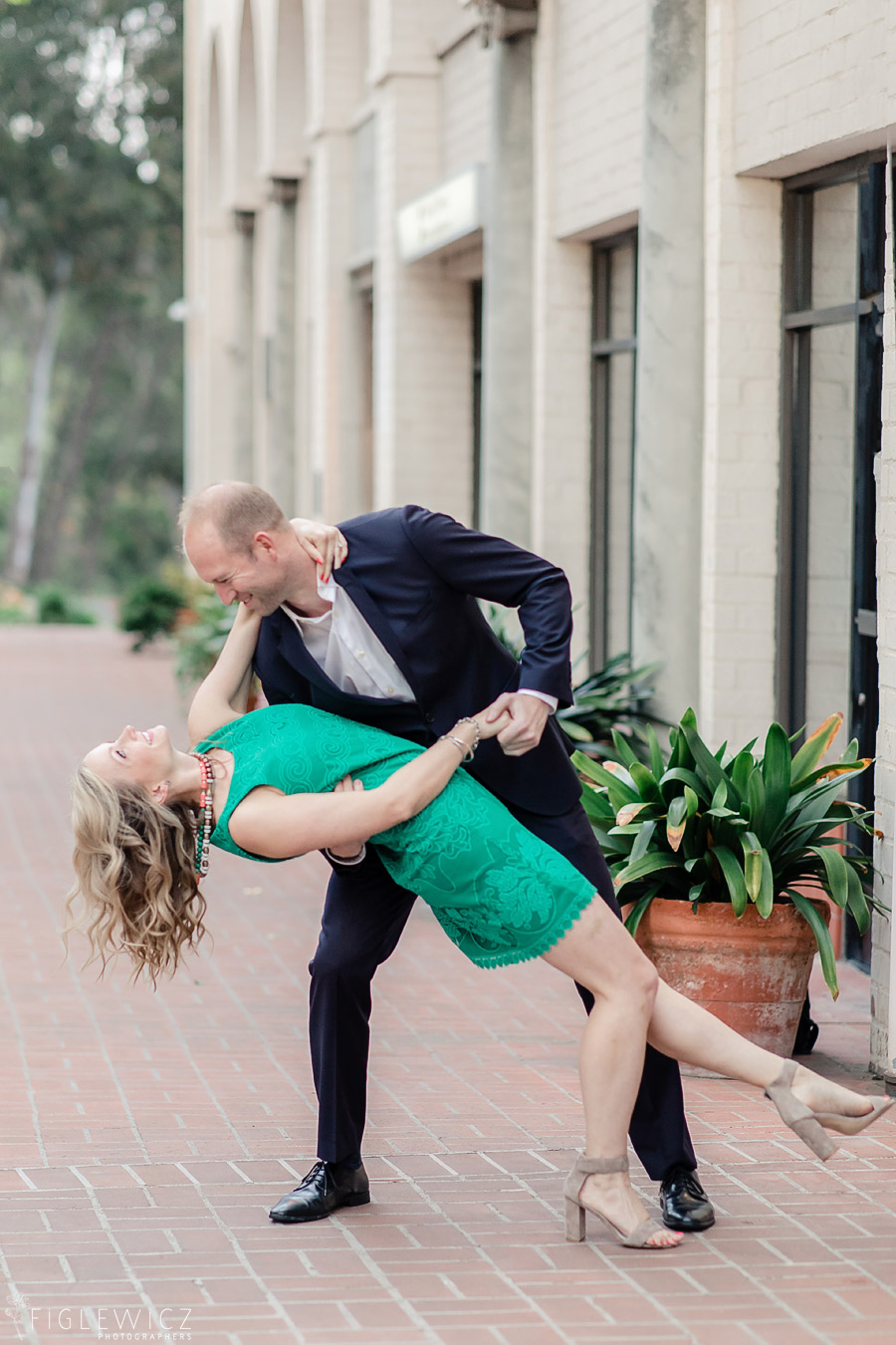 Malaga Cove Plaza Engagement