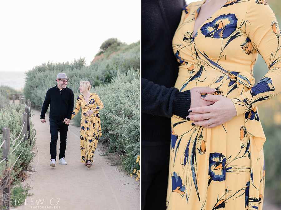 giggling parents walking through Terranea