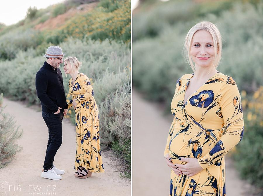 beautiful couple in terranea maternity portraits