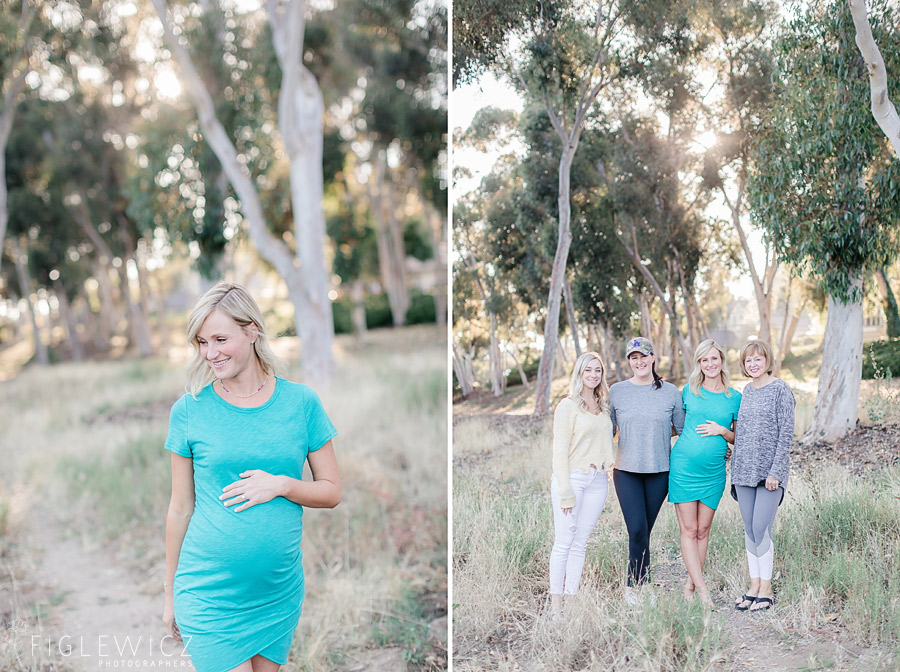 mother to be with friends in palos verdes