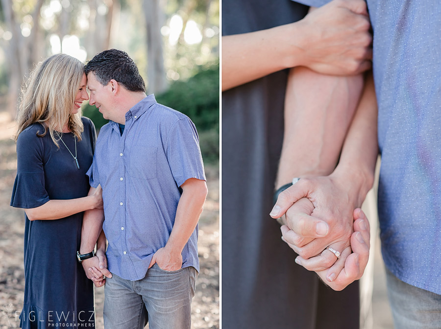 couple holding hands for Palos Verdes Engagement shoot