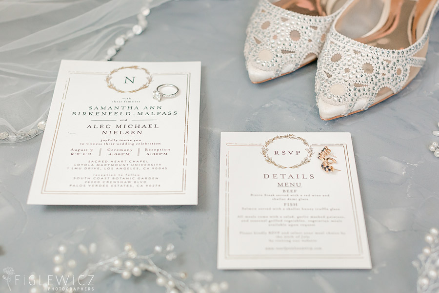 wedding details shoes invitation