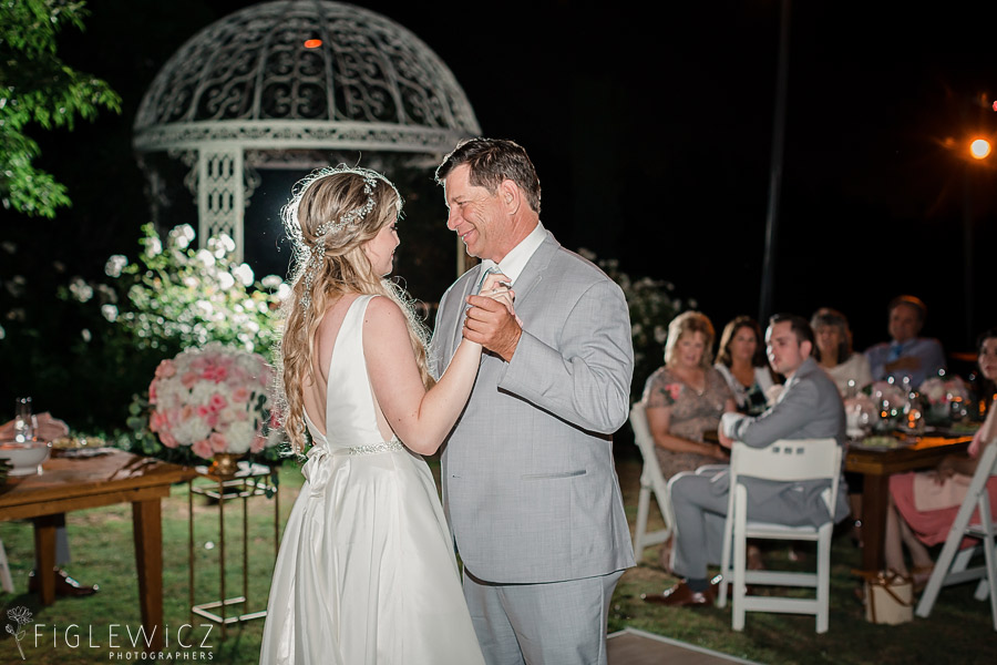 father daughter dance in garden