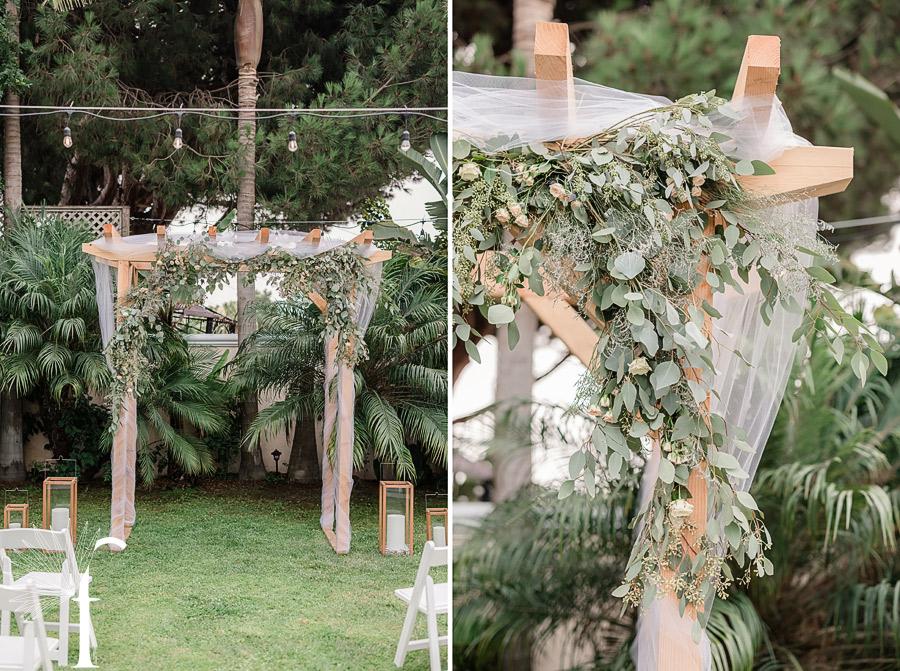 Manhattan Beach Backyard Wedding