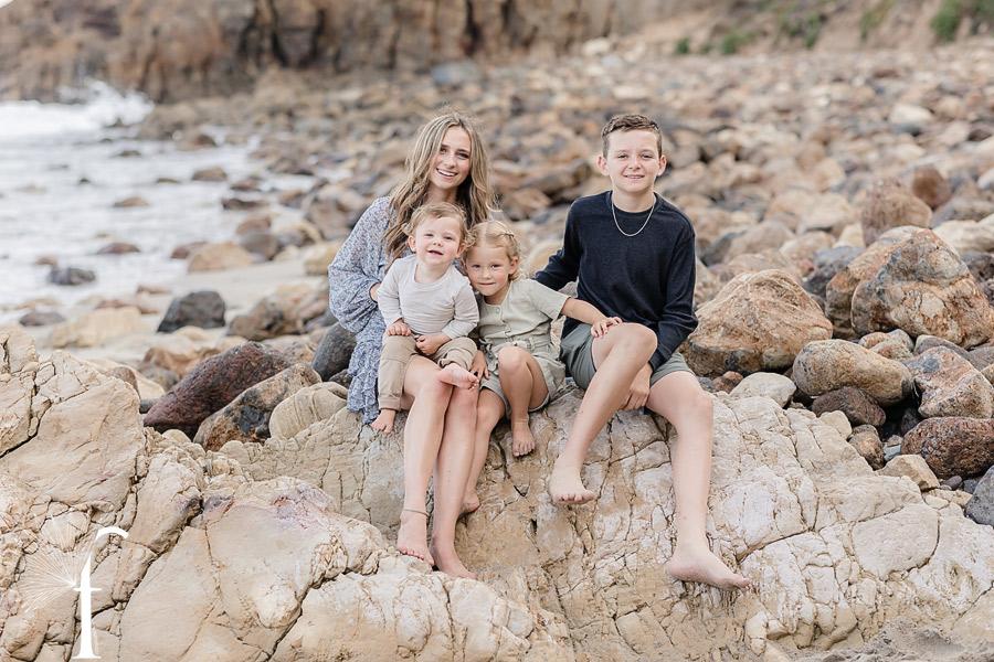 Point Dume Malibu Family Portraits | Brown Family